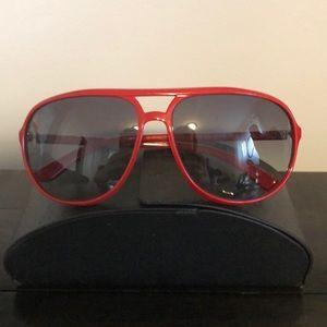 BRAND NEW RED PRADA AVIATOR SUN GLASSES